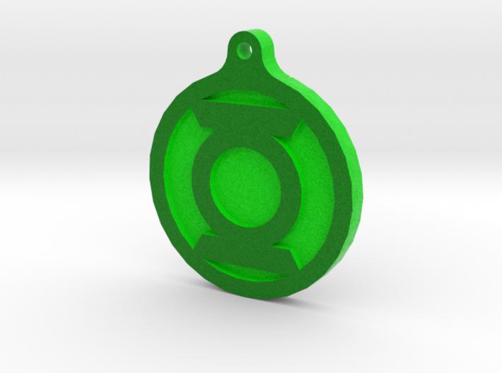 Green Lantern Key Chain 3d printed