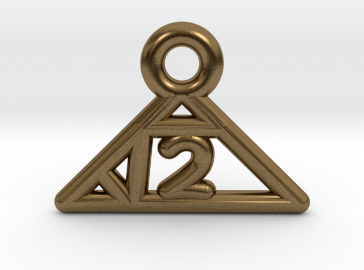 Square Root of 2 Charm 3d printed
