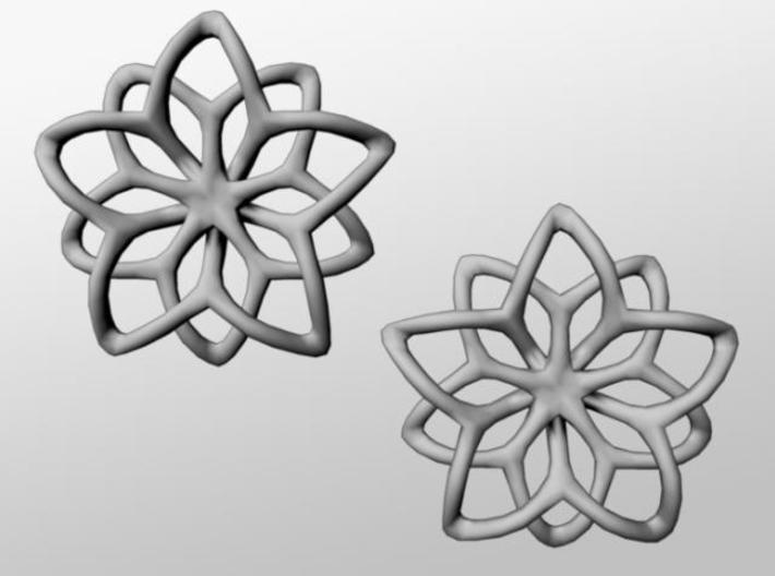 Flower Loops Pair 3d printed Front