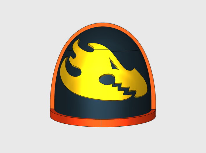 Flame Dragons - G4 Right Shoulder Pads x10 3d printed
