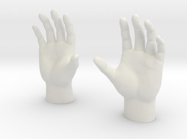 Generic Male Hands - Open Cupped 3d printed