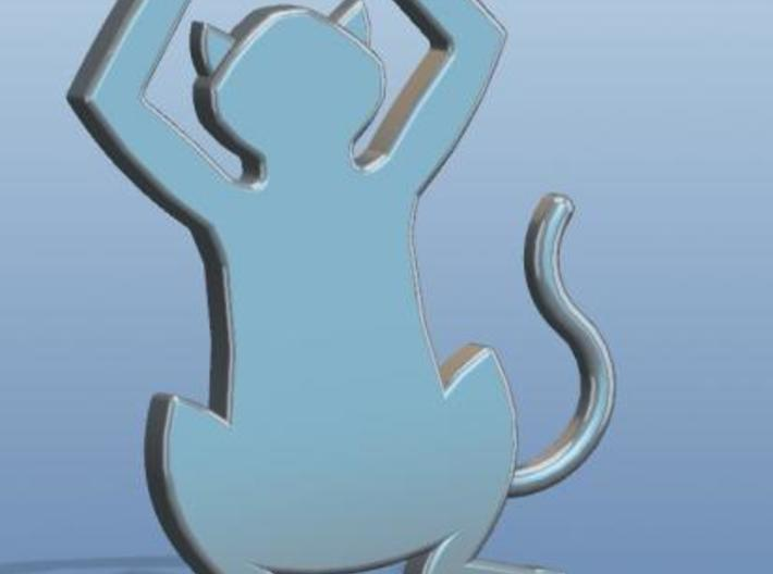 Simple Cat Pendant/Charm 3d printed Description
