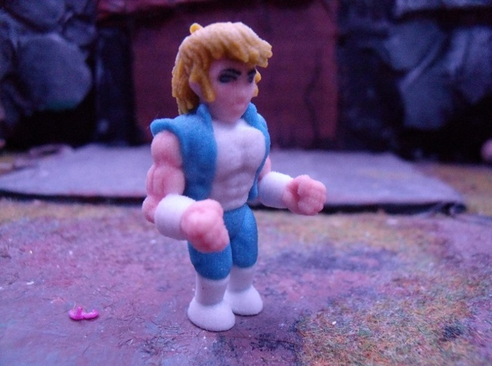 Double Dragon Billy-Lee. Full color minifigure. 3d printed