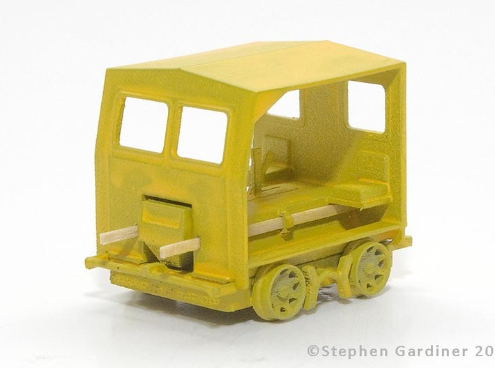 S Scale - Fairmont S2 Speeder Car 3d printed Partially Painted Sample Print