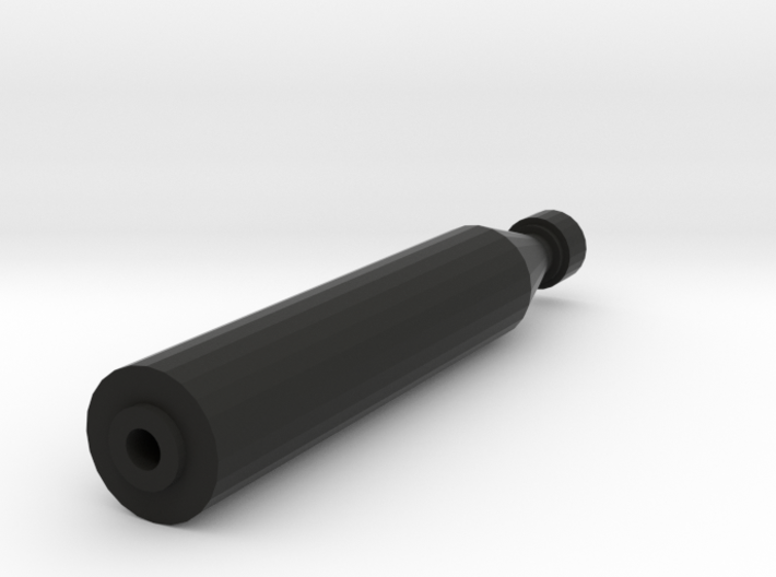 Quickshot Airsoft Silencer (14mm Self-Cutting) 3d printed