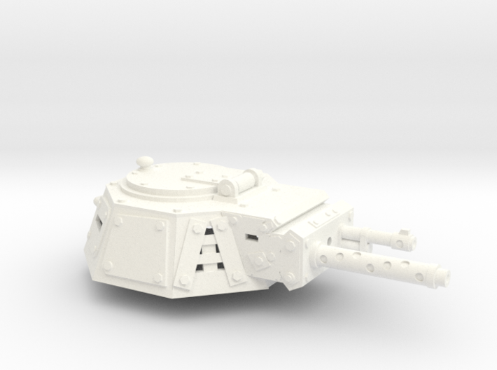 28mm looted armour turret 1 3d printed