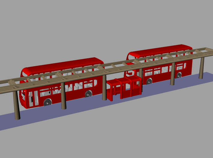 N Gauge Canopy Kit 3d printed Bus station option (Buses not included)