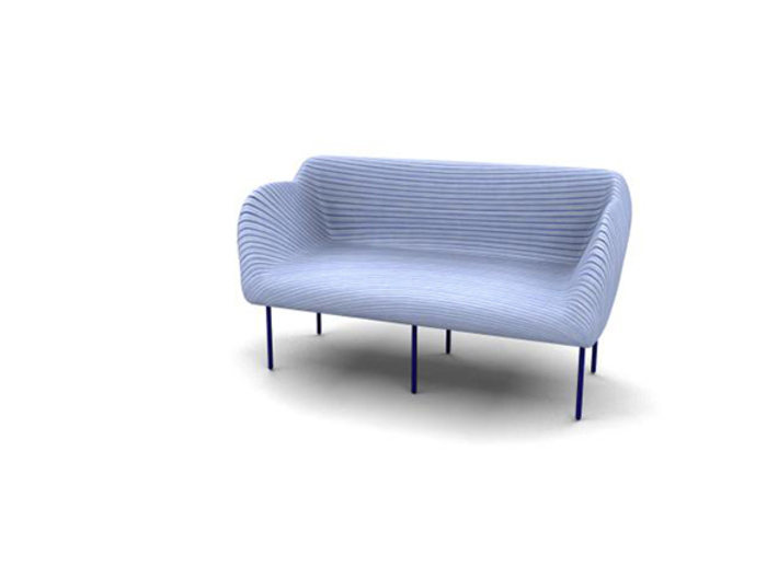 Spiral-Couch 3d printed Pic-2