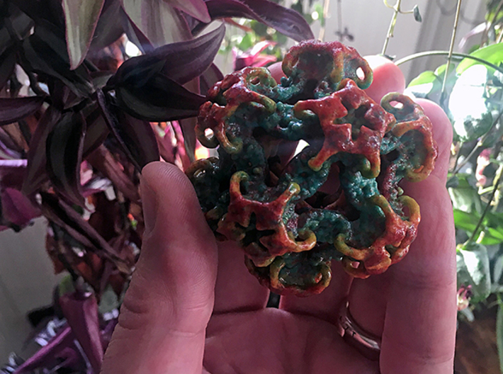 Organoid 1st Mandelbulb3D color mesh ever printed! 3d printed First meeting with terrestrial plant life...