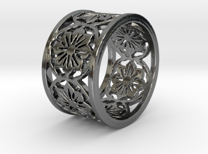 VICTORIA Ring Design Ring Size 8 3d printed