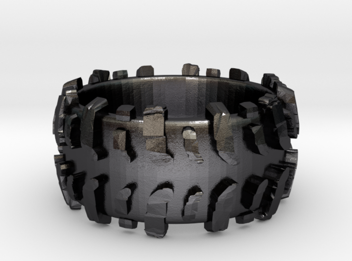 Mud Tire Man Ring 3d printed
