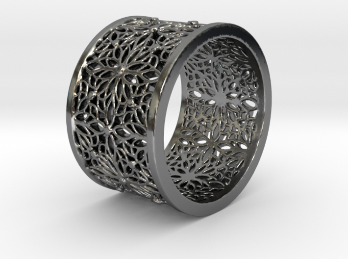 LACE DOTS Ring Design Ring Size 8.75 3d printed