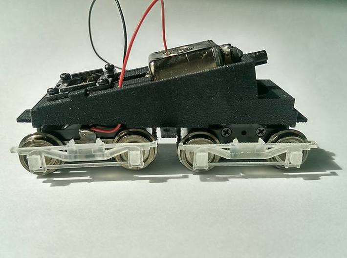 299 Shortened Bachmann Frame With Tubes 3d printed