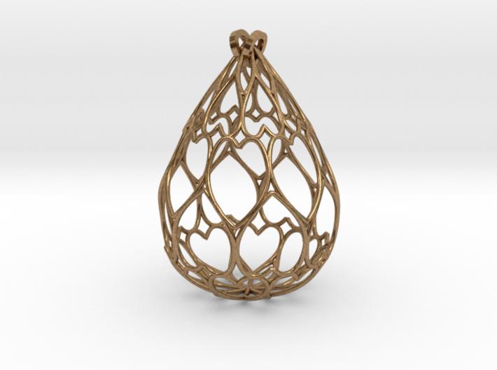 Filigree Drop Pendant 3d printed