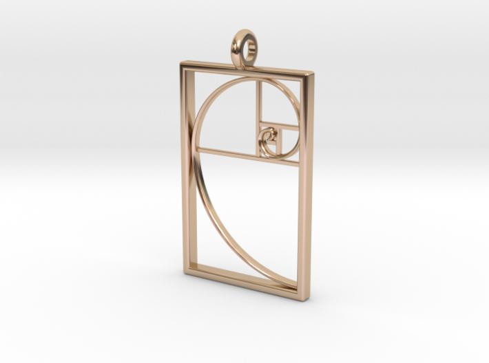 Golden Spiral Pendant #1 3d printed