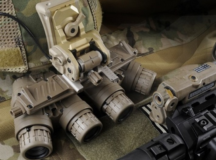 1/16 scale SOCOM NVG-18 night vision goggles x 3 3d printed