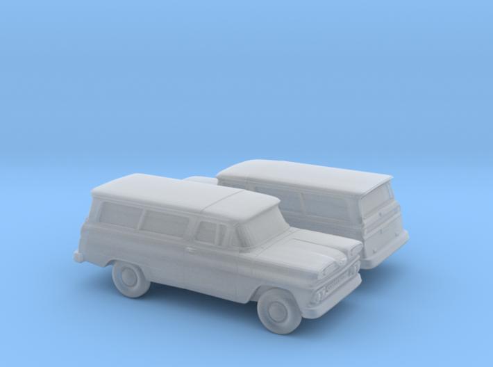 1/160 2X 1960/61 Chevrolet Suburban 3d printed