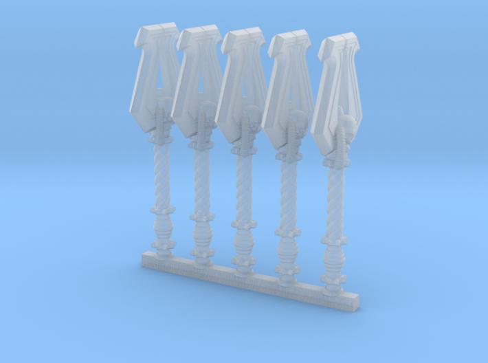 Techno-Power Axe of Corn (x5) 3d printed