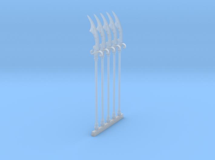 Pole Scimitar 001a 3d printed