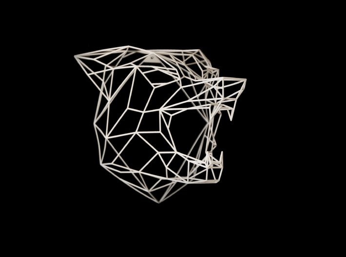 Wire Frame Wolf decor-XL 3d printed