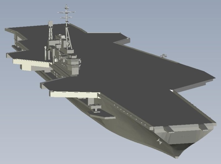 1/1250 scale USS Midway CV-41 aircraft carrier x 3 3d printed
