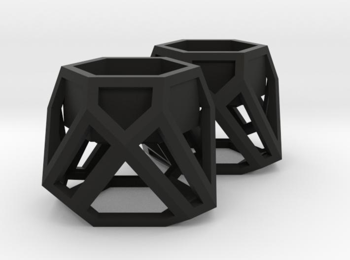GEOMETRIC TEALIGHT HOLDER (SET OF 2) 3d printed