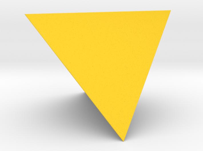 1 Tetrahedron (four faces). 3d printed