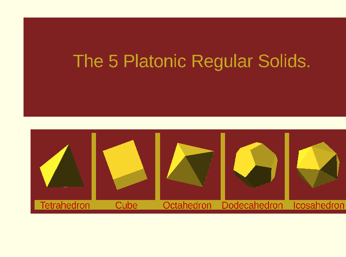 Boxe For The Platonic Solids 3d printed This is a digital image. Not for sell !