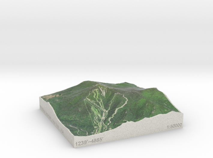 Whiteface Mtn., NY, USA, 1:50000 Explorer 3d printed