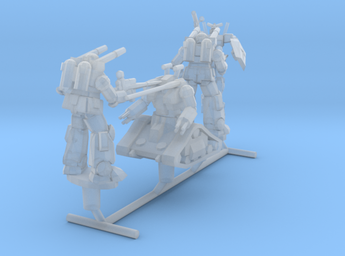 White Base Team from Gundam, 1:1000 3d printed