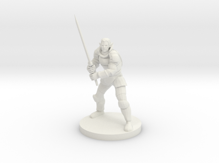 Elven Great Weapon Fighter 3d printed
