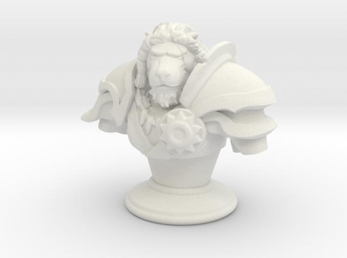 Lion Gladiator Bust 3d printed