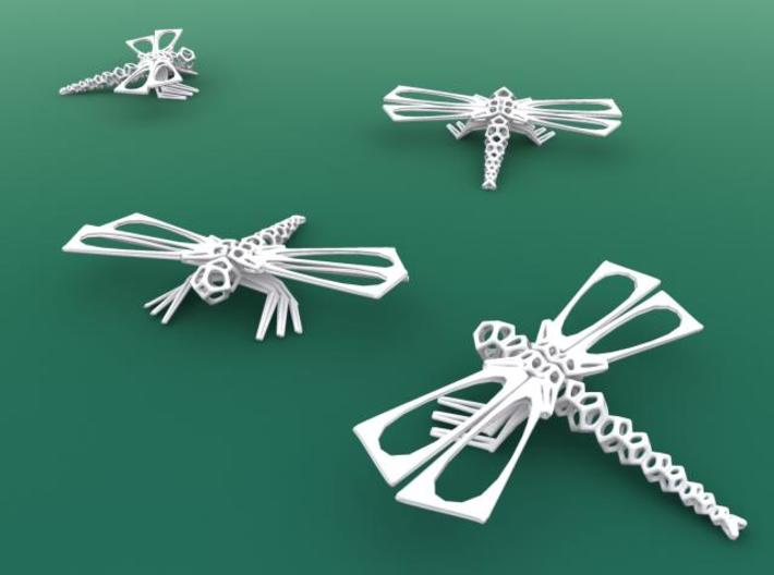 DragonFly 3d printed White strong & flexible render