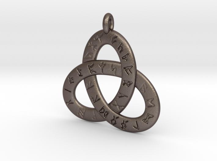 Saxon Rune Poem Triquetra 4.5cm 3d printed