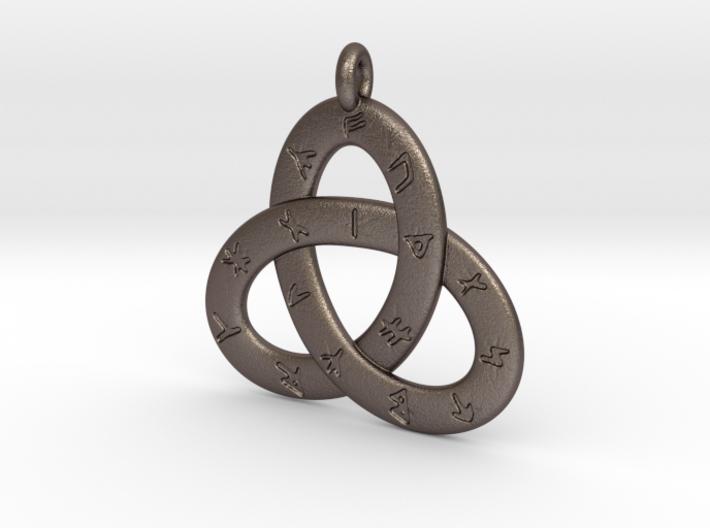 Norse/ Icelandic Rune Poem Triquetra 4.5cm 3d printed