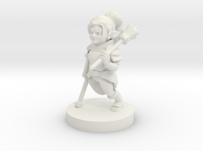 Halfling Female Cleric Missing Leg 3d printed