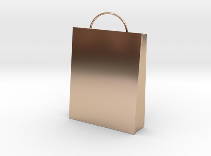 Plain Bag Charm 3d printed