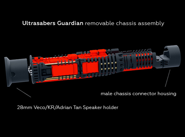 US Guardian Chassis Main body 3d printed