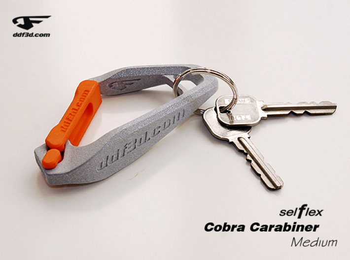 Cobra Carabiner *Medium* DH003SW 3d printed