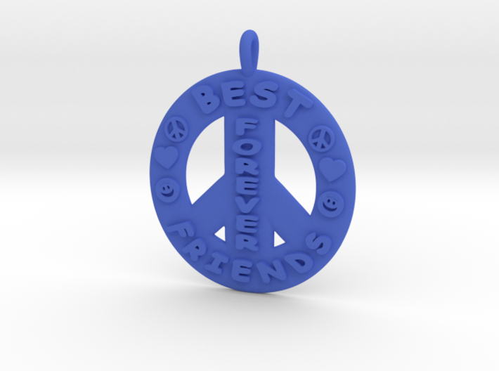 15- Best Friends Forever / Peace Sign 3d printed