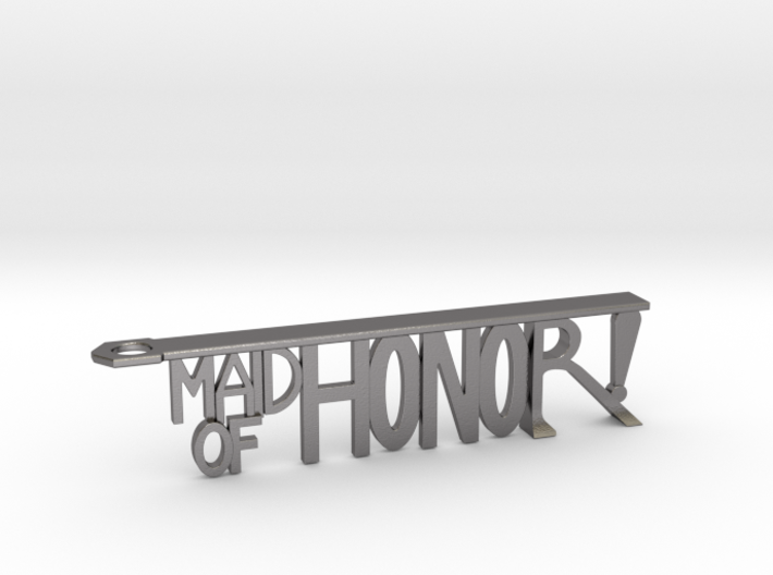 Maid Of Honor Bottle Opener Keychain 3d printed