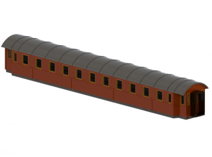 Co9b - Swedish passenger wagon 3d printed CAD-model