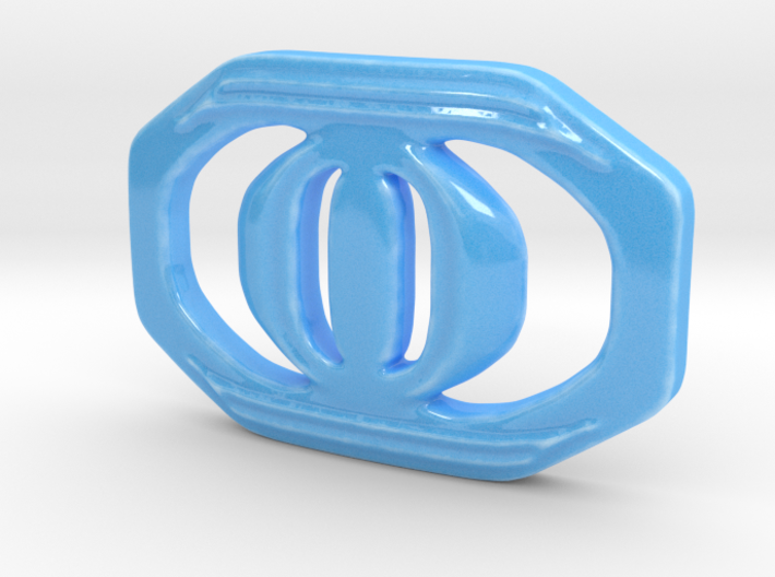 Buckle for material belt in porcelain 3d printed