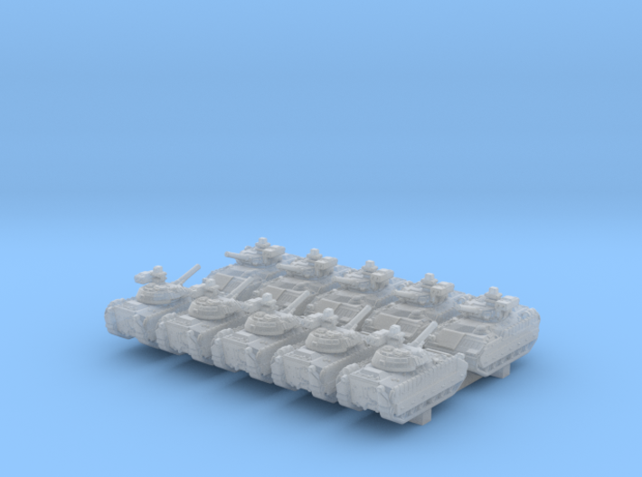 1/700 US M2A3 Bradley APC 20º Barrel x10 3d printed 1/700 US M2A3 Bradley APC 20º Barrel x10
