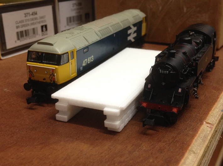 N gauge platforms textured, seamless joints. 3d printed