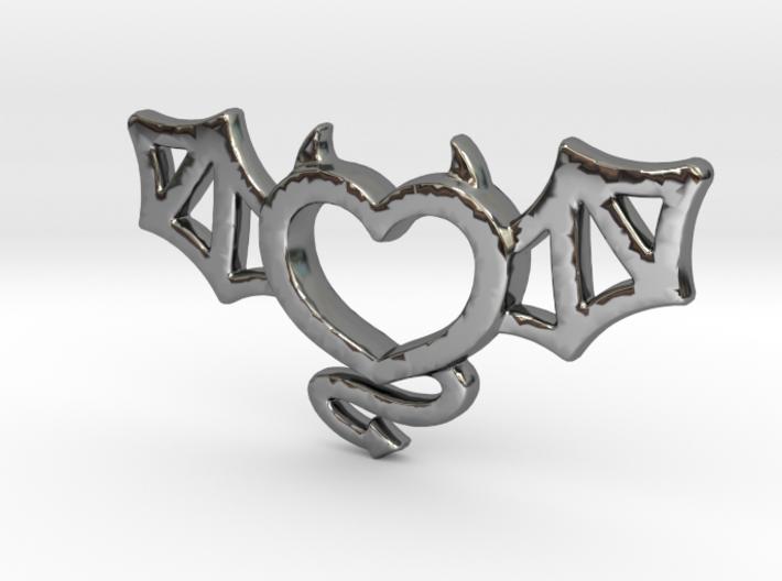 Winged Devil Heart 3d printed