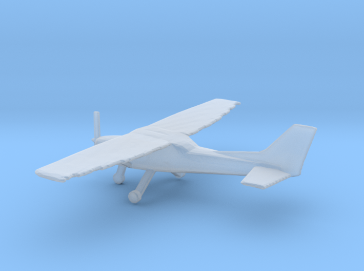 1:200 Cessna C172 Wheeled Version 3d printed