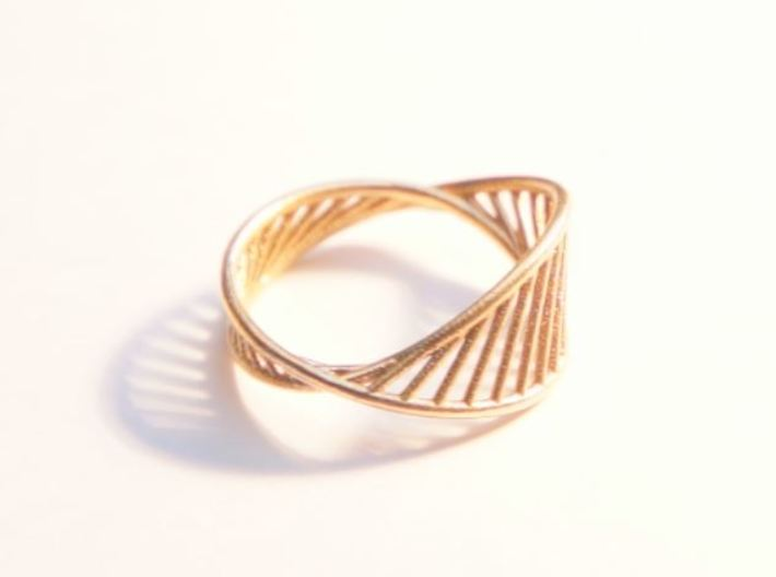 DNA Ring US7 3d printed