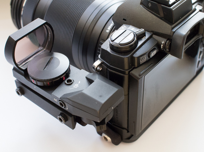 Weaver rail for BOEM-1 (OM-D M1) or BOEM-5 (OM-D M 3d printed Red Dot and EVF at same height