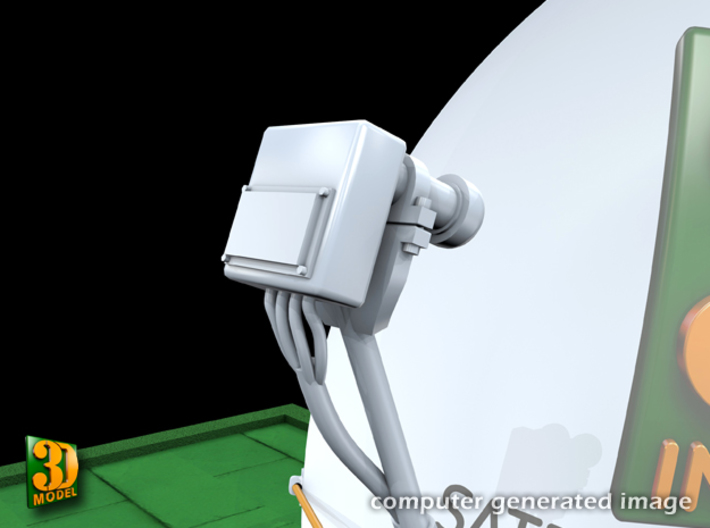 Satellite dish (60mm) double pack 3d printed Satellite dish 60 mm double pack - head